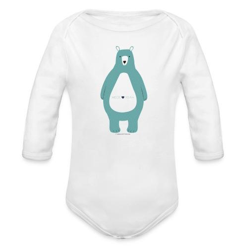 Heck Yeah! - Organic Long Sleeve Baby Bodysuit