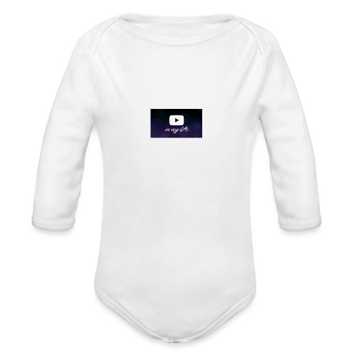 my life is youtube poster - Organic Long Sleeve Baby Bodysuit