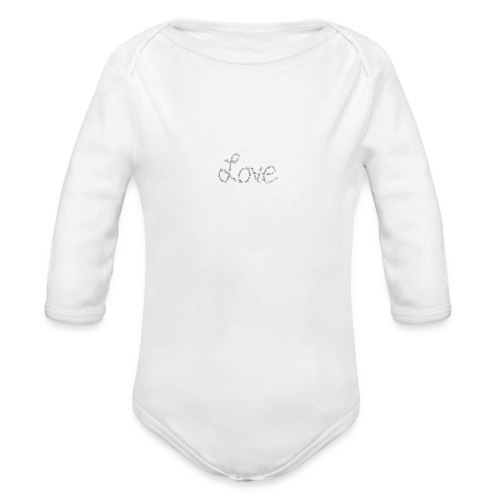 Love written described T-shirt - Organic Long Sleeve Baby Bodysuit