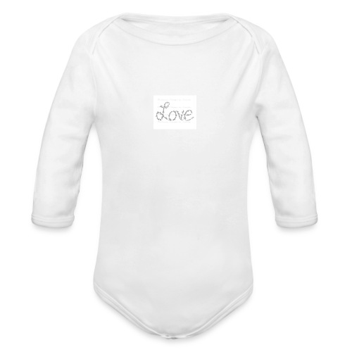 Love written described T-shirt - Organic Long Sleeve Baby Bodysuit