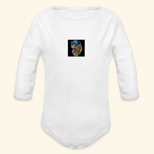 Tommy The Cats Kid and Babies wearing - Organic Long Sleeve Baby Bodysuit
