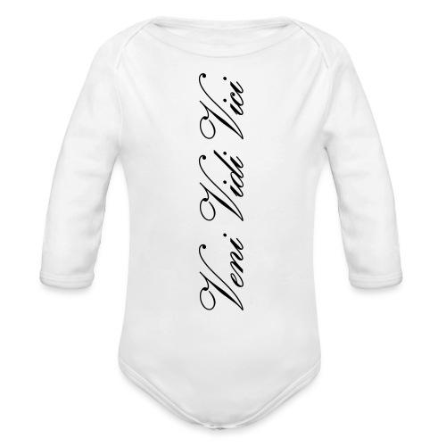 veni vidi vici calli leggins - Organic Long Sleeve Baby Bodysuit