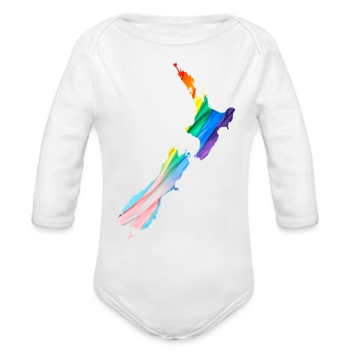 NZ+ - Organic Long Sleeve Baby Bodysuit