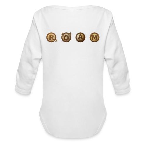 ROAM letters sepia - Organic Long Sleeve Baby Bodysuit