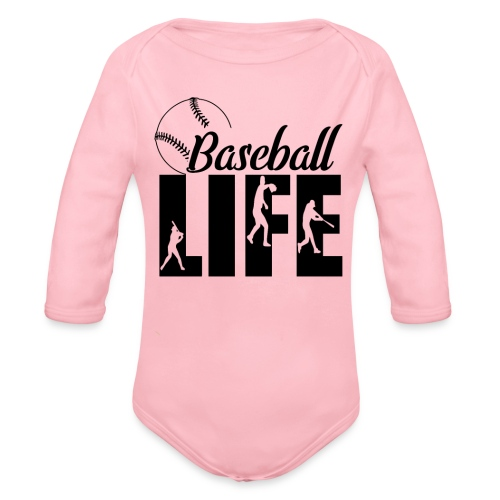 Baseball life - Organic Long Sleeve Baby Bodysuit