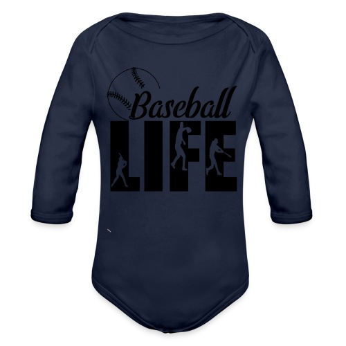 Baseball life - Organic Long Sleeve Baby Bodysuit