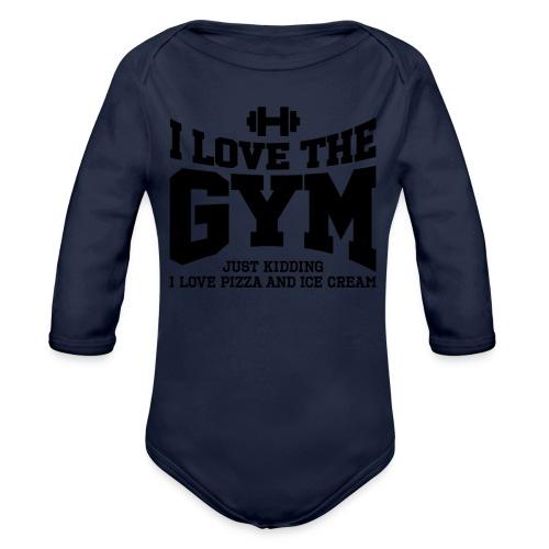 I love the gym - Organic Long Sleeve Baby Bodysuit