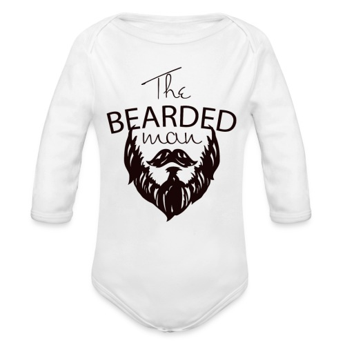 The bearded man - Organic Long Sleeve Baby Bodysuit