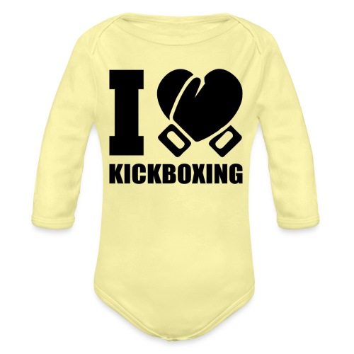 I Love Kickboxing - Organic Long Sleeve Baby Bodysuit