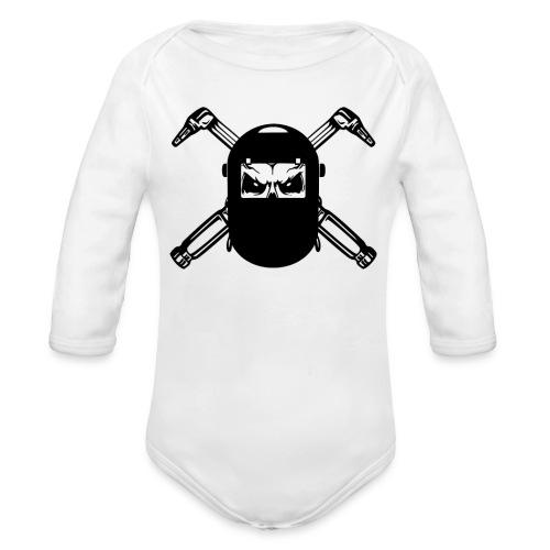 Welder Skull - Organic Long Sleeve Baby Bodysuit