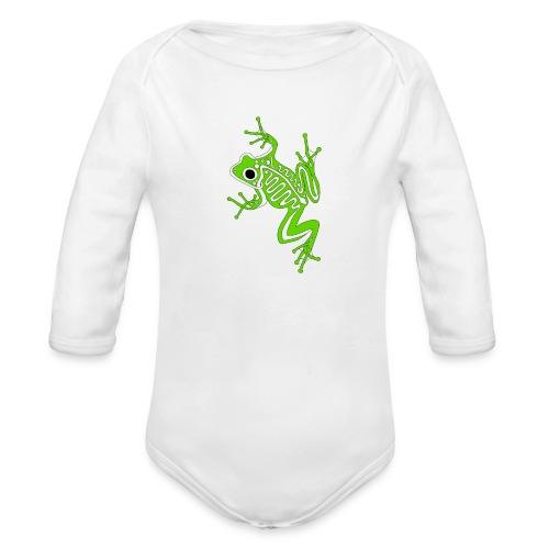 Anglo-Saxon Frog - Organic Long Sleeve Baby Bodysuit