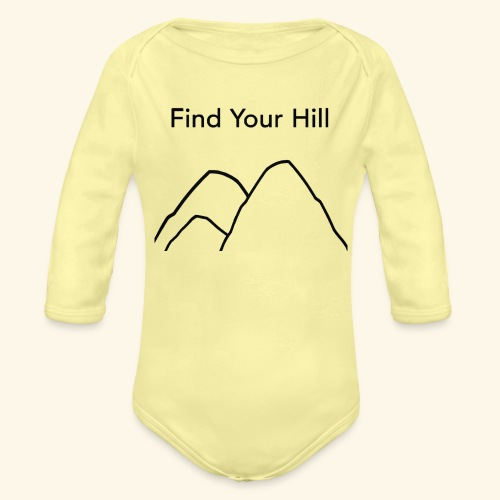 Find Your Hill - Organic Long Sleeve Baby Bodysuit
