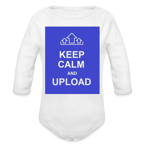 RockoWear Keep Calm - Organic Long Sleeve Baby Bodysuit
