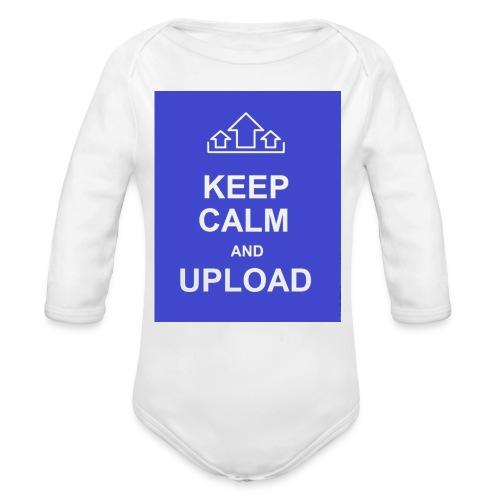 RockoWear Keep Calm - Organic Long Sleeve Baby Bodysuit