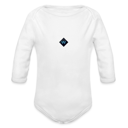 White_Sparclz Gaming CHANEL LOGO 22 - Organic Long Sleeve Baby Bodysuit