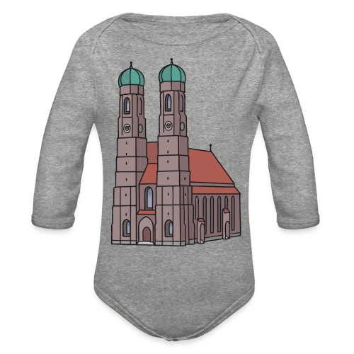 Munich Frauenkirche - Organic Long Sleeve Baby Bodysuit