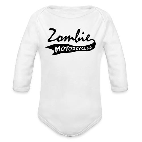 zombie baseball - Organic Long Sleeve Baby Bodysuit
