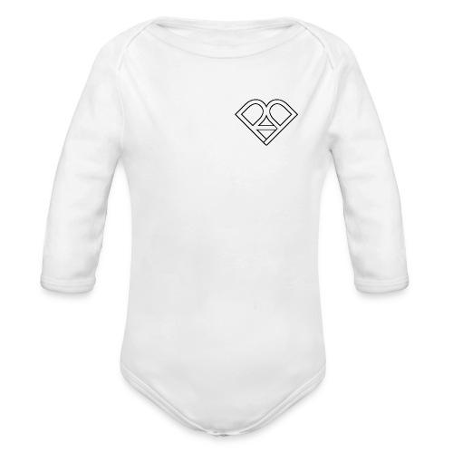 Riggi & Piros Heart - Organic Long Sleeve Baby Bodysuit