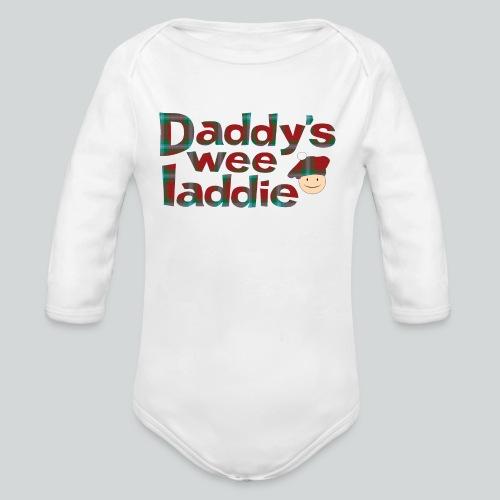 Daddy's Wee Laddie - Organic Long Sleeve Baby Bodysuit