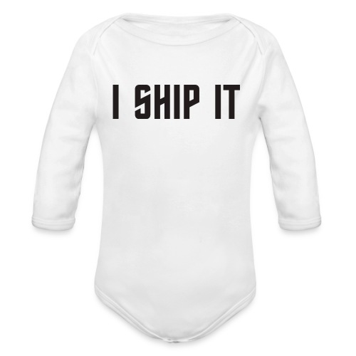 I Ship It Trek Shirt - Organic Long Sleeve Baby Bodysuit