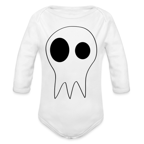 The Grims Skull Logo - Organic Long Sleeve Baby Bodysuit