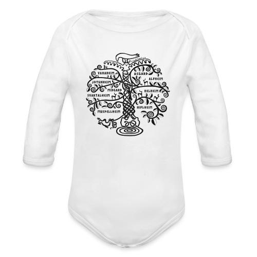 Yggdrasil - The World Tree - Organic Long Sleeve Baby Bodysuit
