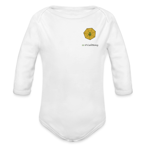 cashmoney - Organic Long Sleeve Baby Bodysuit