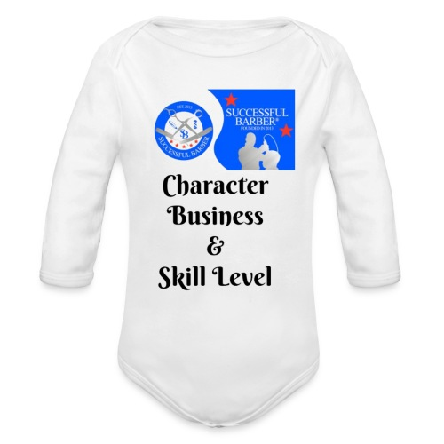 Character, Business & Skill Level - Organic Long Sleeve Baby Bodysuit