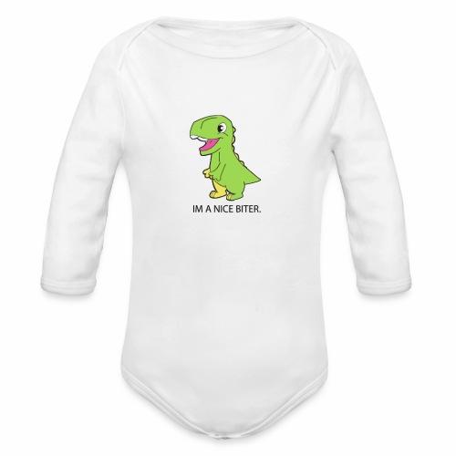 BABY DINO - Organic Long Sleeve Baby Bodysuit