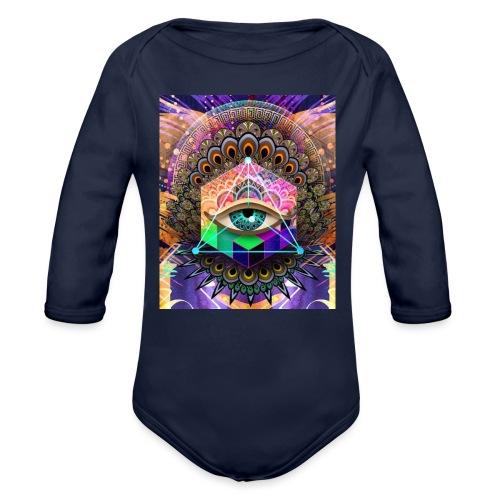 ruth bear - Organic Long Sleeve Baby Bodysuit