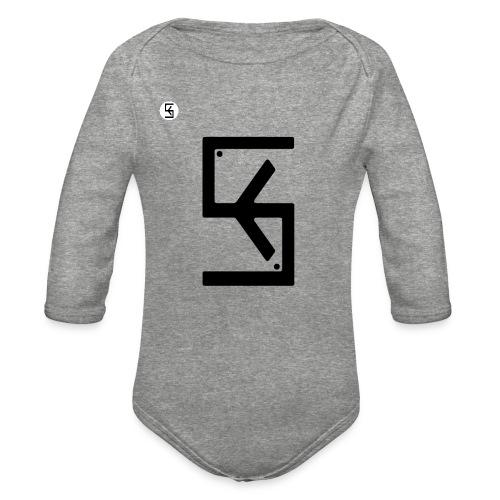 Soft Kore Logo Black - Organic Long Sleeve Baby Bodysuit