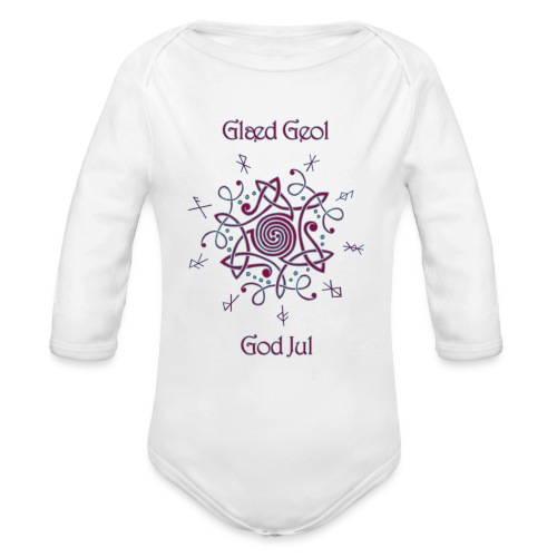 Happy Yule - Organic Long Sleeve Baby Bodysuit