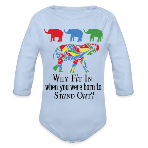 Why Fit In? - Organic Long Sleeve Baby Bodysuit