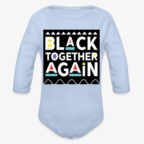 Black Together Again - Organic Long Sleeve Baby Bodysuit
