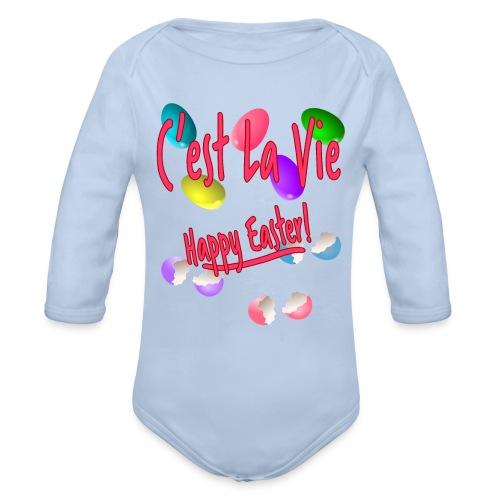 C'est La Vie, Easter Broken Eggs, Cest la vie - Organic Long Sleeve Baby Bodysuit