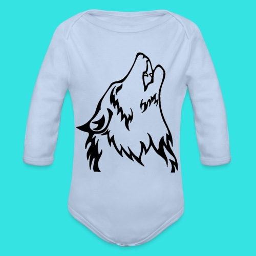 Wolf - Organic Long Sleeve Baby Bodysuit