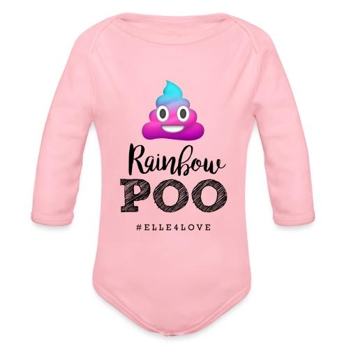 Rainbow Poo - Organic Long Sleeve Baby Bodysuit