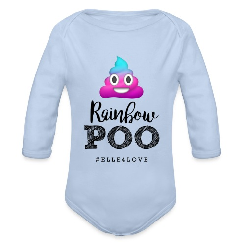 Rainbow Poo - Organic Long Sleeve Baby Bodysuit