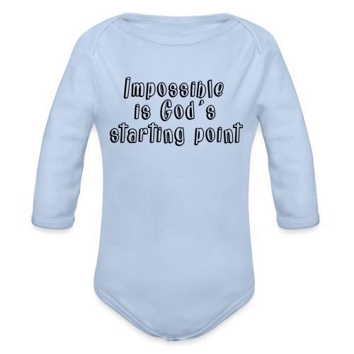 God's starting point - Organic Long Sleeve Baby Bodysuit