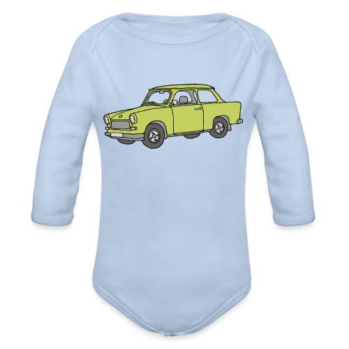 Trabant (baligreen car) - Organic Long Sleeve Baby Bodysuit