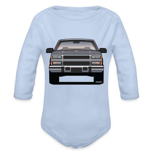 Design Icon: American Bowtie Silver Urban Truck - Organic Long Sleeve Baby Bodysuit