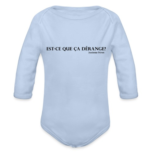 Jocelerme Privert - Organic Long Sleeve Baby Bodysuit
