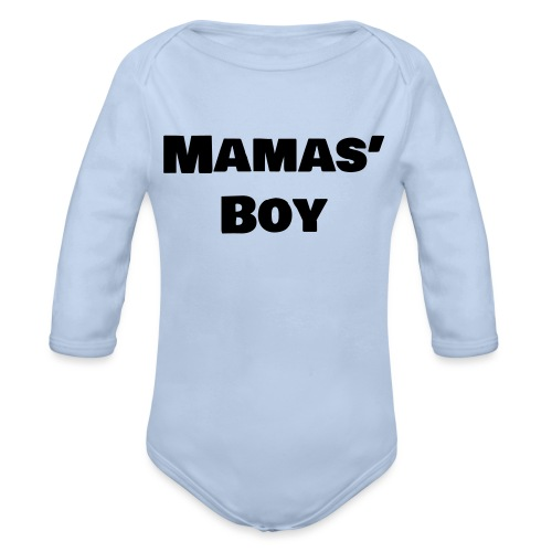 Mamas' Boy - Organic Long Sleeve Baby Bodysuit