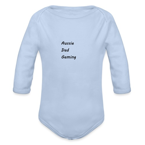 Basic AussieDadGaming - Organic Long Sleeve Baby Bodysuit