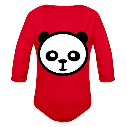 Panda bear, Big panda, Giant panda, Bamboo bear - Organic Long Sleeve Baby Bodysuit