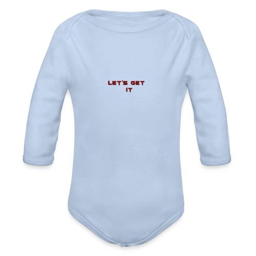 Let's Get It - Organic Long Sleeve Baby Bodysuit