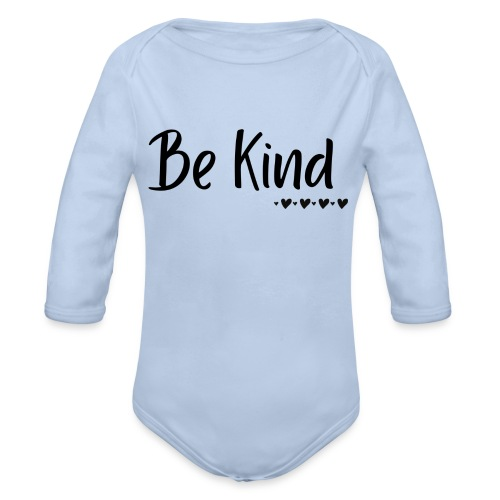 Be Kind - Organic Long Sleeve Baby Bodysuit