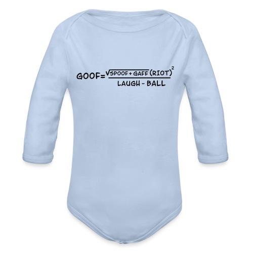 gaff text3 - Organic Long Sleeve Baby Bodysuit