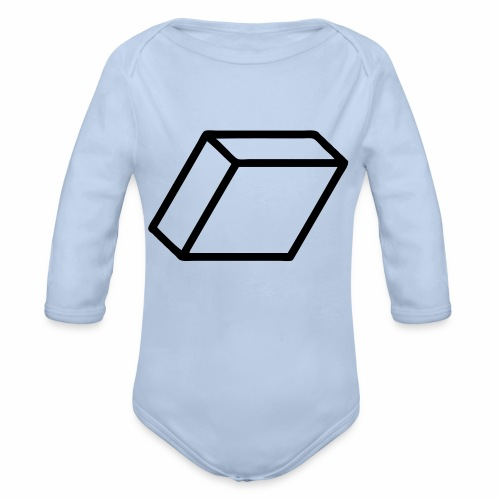 rhombus3 ai - Organic Long Sleeve Baby Bodysuit