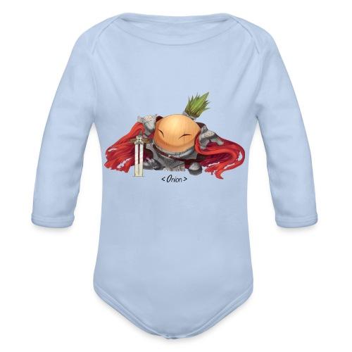 Onion Knights - Women's Pink - Organic Long Sleeve Baby Bodysuit